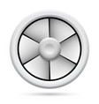 electric plastic fan on white background for vector image vector image