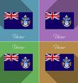 Flags Tristan da Cunha Set of colors flat design vector image vector image