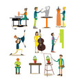 flat icons set of artistic profession vector image vector image