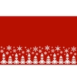 From snowflakes border vector image