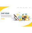 gap year website landing page design vector image vector image