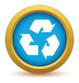Gold recycling icon vector image vector image