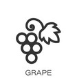 grape fruits sign icon in flat style grapevine on vector image