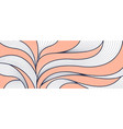 hand drawn lines wave background vector image vector image