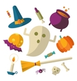 Happy Halloween icons vector image vector image