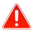 hazard warning attention sign vector image vector image