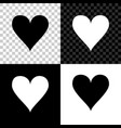 heart icon isolated on black white and vector image vector image