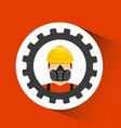 industrial security design vector image