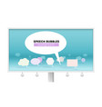 leader of public opinion billboard isolated on vector image