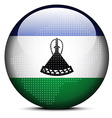 Map with Dot Pattern on flag button of Lesotho vector image vector image