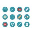 Medicine Icons Set Collection on Web Buttons vector image vector image