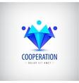 men human logos icons Family team vector image vector image