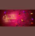 merry christmas and a happy new year banner with vector image vector image