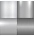 Metallic textures vector image vector image