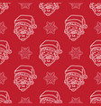 minimalistic christmas red pattern vector image