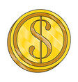 money coin isolated vector image vector image