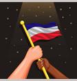 netherland national flag symbol vector image vector image