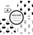 pattern with cup of coffee vector image vector image