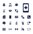 phone icons vector image vector image