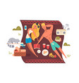 picnic in nature park vector image