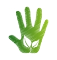 plant ecology hand open icon vector image vector image