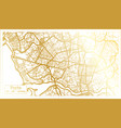 porto portugal city map in retro style in golden vector image