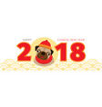 pug dog chinese new year 2018 vector image vector image