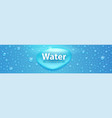 realistic water drops on blue surface template vector image vector image