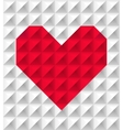 red polygonal heart vector image vector image