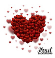 Red Soft and Smooth Valentine Hearts in white vector image vector image
