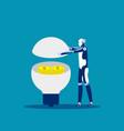 robot ideas make money concept business success vector image
