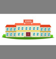 school building modern education city vector image