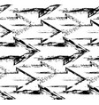 seamless pattern grunge right arrows black vector image vector image