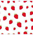 seamless pattern with strawberry juicy healthy vector image vector image