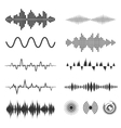 Signal wave set analog signals and digital vector image vector image