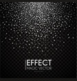 silver particles abstract magic dust on vector image