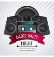 Speaker and cassette icon Dance and Music design vector image vector image
