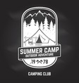 summer camp concept vector image vector image