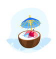 summer time vacation relax young man in swim suit vector image vector image