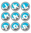 Swoosh Alphabet Logo Icons Set 2 vector image vector image