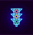 traffic light neon sign vector image