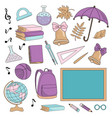 underwater school supplies school vector image vector image