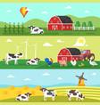 web banner farm farmers farm animals