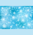 winter christmas background with snowflakes vector image vector image