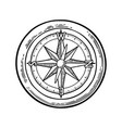 compass rose isolated on white background vector image