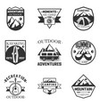 set of outdoor activity camping and vector image