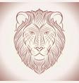 ethnic lion line vector image