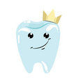 a healthy tooth with a crown hygiene oral vector image