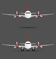 airplane with motors with propeller set vector image vector image