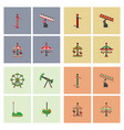 Amusement park icons vector image
